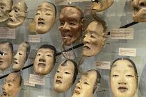 England, Oxford, Pitt Rivers Museum, death masks.