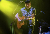 England, Oxfordshire, Cropredy, Richard Thompson playing guitar at the festival.