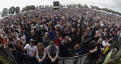 England, Oxfordshire, Cropredy, Panoramic of the crowd at the festival.