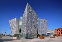 Ireland, County Antrim, Belfast, Titanic Quarter, Titanic Belfast Visitor Experience.