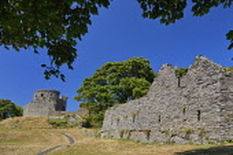 Ireland, County Down, Dundrum Castle ruin.