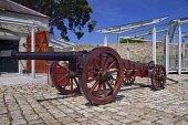 Ireland, County Meath,  Oldbridge House, Battle of the Boyne Visitor Centre near Drogheda in County Louth, Gun carriage.