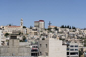 Palestine, Bethlehem, A view of the modern city of Bethlehem in the Occupied West Bank.