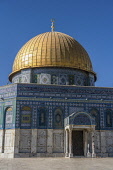 Israel, Jerusalem, The Dome of the Rock shrine or Qubbat As-Sakhrah was built within the walls of the Old City on the Jewish Temple Mount and site of the Second Jewish Temple. It was completed about 6...