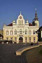 Romania, Timis, Timisoara, Serbian Orthodox Bishop's House on Piata Uniri, old town.