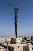 Jordan, Mount Nebo, Mount Nebo, The Brazen Serpent Monument is a sculpture representing the brass serpent lifted up by Moses and the cross upon which Christ was crucified. It was created by Italian ar...
