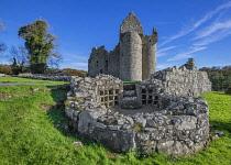Northern Ireland, County Fermanagh. Monea Castle, a 17th century Plantation rectangular tower house.