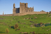 Ireland, County Tipperary,  Rear view of the Rock of Cashel, a spectacular group of Medieval buildings set on an outcrop of limestone in the Golden Vale.