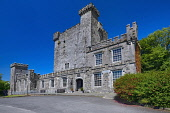 Ireland, County Clare, Quin, Knappogue Castle, View of the facade and entrance.