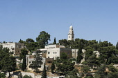 Israel, Jerusalem, Mount Zion, The Dormition Abbey was built by Benedictine monks on the site of an earlier Byzantine church called Hagia Sion, constructed in the early 5th Century A.D. and destroyed...