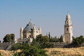 Israel, Jerusalem, The Dormition Abbey was built by Benedictine monks on the site of an earlier Byzantine church called Hagia Sion, constructed in the early 5th Century A.D. and destroyed in 612 A.D....