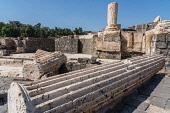 Israel, Bet She'an, Bet She'an National Park, The ruins of the city of Scythopolis, a Roman city in northern Israel. During the Roman era, it was one of the most important of the Decapolis cities. The...