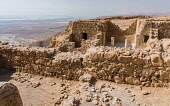 Israel, The Commandant's residence in the ruins of the fortress of Masada in the Judean Desert of Israel. Masada National Park is a UNESCO World Heritage Site. Prior to being taken over by the Jewish...