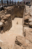 Palestine, Qumram National Park, A cistern for storing fresh water in the ruins of Qumram in Qumram National Park near the Dead Sea in the Occupied Territory of the West Bank. The Dead Sea Scrolls wer...