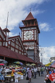 Guyana, Demerara-Mahaica Region, Georgetown, The Stabroek Market was officially chartered in 1842, but a market had existed in that location much earlier.  The market building, with its distinctive cl...