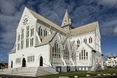 Guyana, Demerara-Mahaica Region, Georgetown, St. George's Anglican Cathedral at 143 feet tall, is one of the tallest timber-built buildings in the world.  It was dedicated in 1894 and is a National Mo...