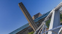 England, London, Tate Modern Art Gallery as seen from the Millennium Bridge.