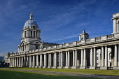 England, London, Greenwich, Old Royal Naval College, The wing that includes the Chapel of St Peter and St Paul.