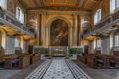 England, London, Greenwich, Old Royal Naval College, Interior of  the Chapel of St Peter and St Paul.