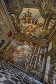 England, London, Greenwich, Old Royal Naval College, The Painted Hall, The Upper Hall.
