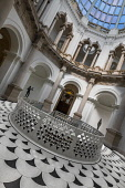 England, London, Tate Britain, View of  the entrance rotunda with circular staircase entrance in the centre.