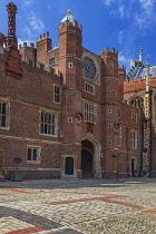 England, Richmond upon Thames. Hampton Court Palace, Clock Court.