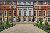 England, Richmond upon Thames. Hampton Court Palace seen from the Privy Garden.