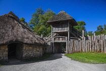 Republic of Ireland, County Wexford, Ferrycarrig, Irish National Heritage Park, Ring Fort entrance.