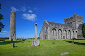 Republic of Ireland, County Kildare, Kildare town, St Brigids Cathedral and Round Tower.