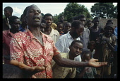 Burundi, Ruyigi, Hutu people return to thier burnt out village after the massacres of 1993 by government troops.
