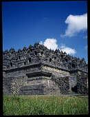 Indonesia, Java, Central, Borobudur Temple ruins, Buddhist monument constructed in the 9th century AD.