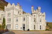 Ireland, County Galway, Connemara, Kylemore Abbey after extensive renovation in 2019.