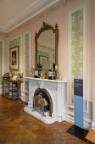 Ireland, County Galway, Connemara, Kylemore Abbey, The Gallery Saloon Room.