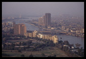Egypt, Cairo, View over the Nile running through the city.