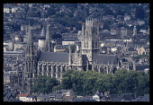 France, Normandy, Seine-Maritime, Rouen, Church of St Ouen, exterior view from distance.