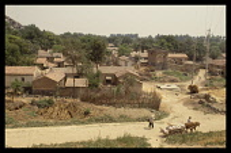 China, Northern Plains, Typical rural village scene.