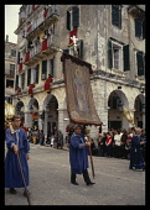 Greece, Corfu, St Spiridou Day religious procession.