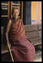 China, Tibet , Lhasa, Jokhang Tibetan Monk.