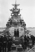 England, Hampshire, Portsmouth, Russian Cruiser Ozbratsovy on a goodwill visit by the Soviet Russian Navy, Vessel was moored at the Naval Dockyard 28 May 1976 during its visit and opened to the public...