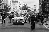 England, London, 1979 Gay Pride march celebrating the tenth anniversary of Stonewall, a march noted for the rather excessive  Police escort.