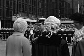 England, Hampshire, Portsmouth, Prince Charles receiving the Freedom of the City on 4 March 1979 in Guildhall square.