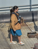 England, Kent, Dover, Priti Patel, Conservative Home Secretary,  visiting the docks after a fact finding mission onboard Border Force boat.