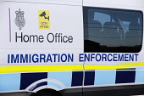 England, Kent, Dungeness, Home Office Immigration Enforcement van.